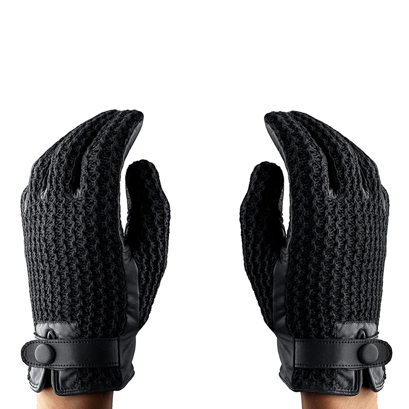 timeless design 9cd09 4c57d Mujjo Leather Crochet Touchscreen Gloves