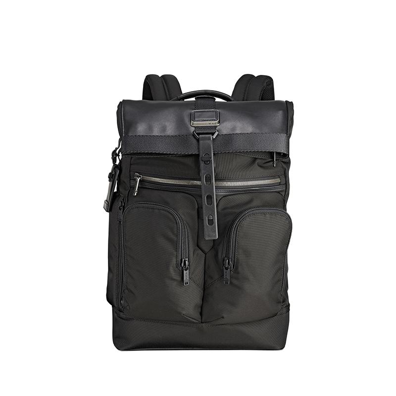 fdd46109b286 Tumi Alpha Bravo London Roll Top Backpack    Black – Pertutti New York